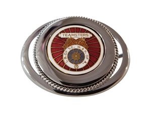 Union Teamster Belt Buckle