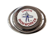 Ironworker 'Man & Beam' Belt Buckle