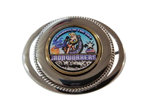 IRONWORKER LADY LUCK BELT BUCKLE