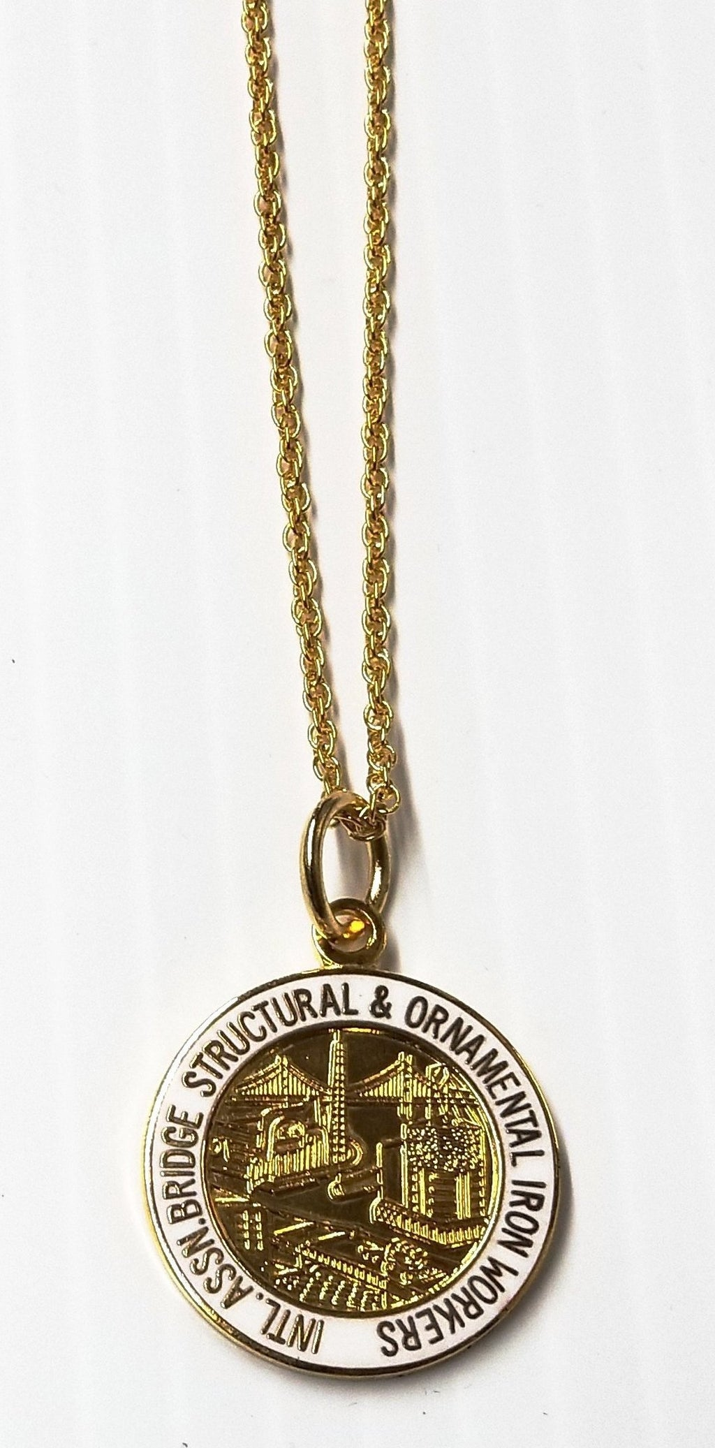 International Ironworker Necklace with International Logo