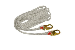 "#34125 - 25' Long wearing nylon rope with excellent abrasion resistance, supple and easy to handle.      5/8"" x 25'     Nylon Rope.     Connectors: Zsnap hookhook on each end."