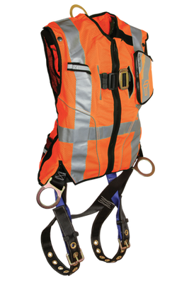 Falltech High-Vis Non-Belted Orange Vest Harness