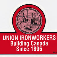 Union Ironworkers Building Canada Large Window Sticker