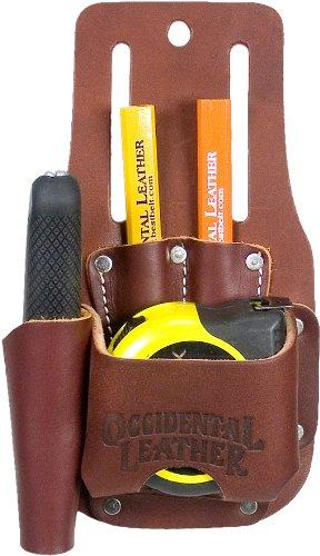 Occidental Leather Part #5047 Compact combination sleek and slick tool holder keeps utility knife, 2 pencils and a 35\ foot tape or 25\foot FatMax always at the ready! It also serves as an excellent holder for chalk lines Compact solution to small jobs & finish work