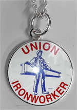 Ironworker Man and Beam Necklace