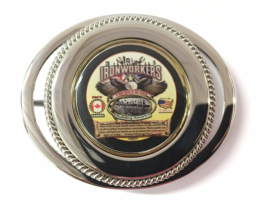 Ironworkers Prayer Belt Buckle