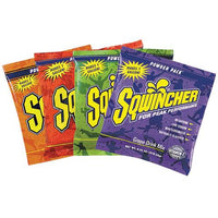 Sqwincher is a great tasting scientifically formulated electrolyte replacement drink designed to rehydrate, restore and recharge the body both before and after dehydration occurs to keep you at your peak performance--whether your on the field, out in the backyard, or sweating it out in the workplace. When your working hard, you ned a drink that works even harder. Sqwincher... it keeps working muscles working.