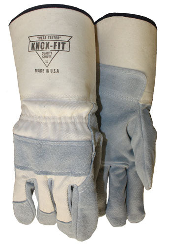 Knox-Fit Leather Palm Long Cuff with Knuckle Strap