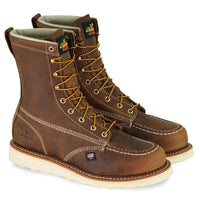 "Thorogood Crazy Horse brown leather 8"" lace up boot"