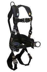 Falltech Arc Flash Nomex® 3D Construction Belted Full Body Harness, Overmolded Quick Connect Adjustments