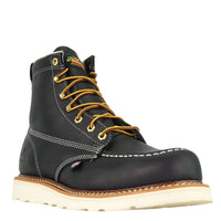 "Throrgood Black 6"" Moc Safety Steel Toe Work Boot #804-6201"