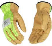 Kinco Gloves with Mesh Back Lime #908