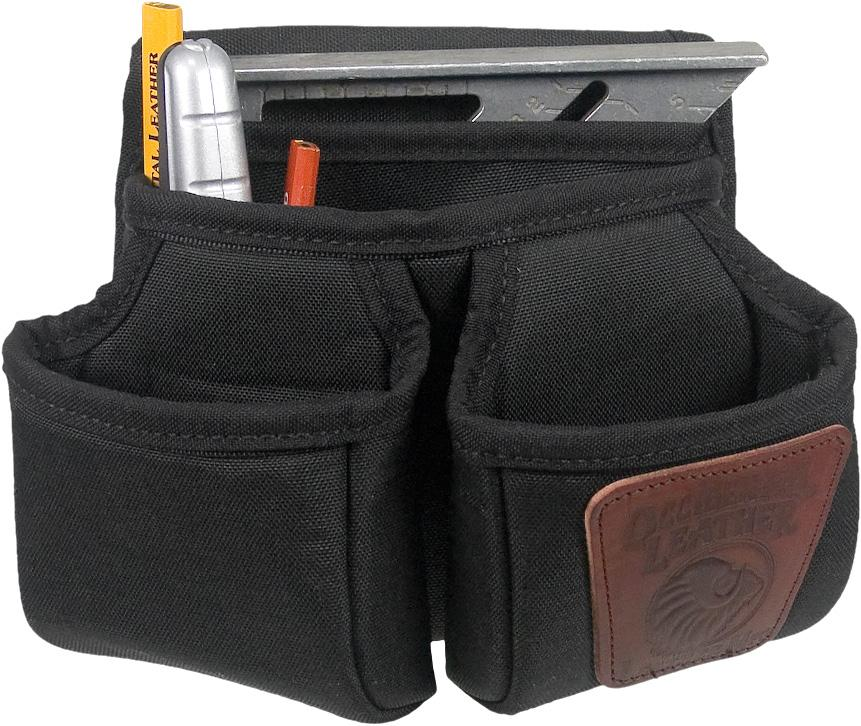 "Occidental Leather Clip-On 7 Pouch 9504  Cost-efficient fastener and tool management! Versatile multi pouch design, with tool holders for pencils, utility knife, angle square, and capacity for multiple fasteners. Perfect for small jobs or the do it yourself weekend projects.  Specifications:      Pockets & Tool Holders: 7     Main Bag: 7.5"" x 6""     Outer Bags: 5"" x 5.5""     Weight: 0.7 lbs"