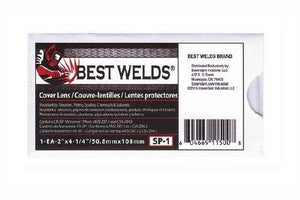 Best Welds Cover Lens, Scratch/Static Resistant, 4 1/4'' x 2'' #SP-1
