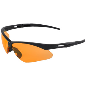 ERB Octane Black Orange Safety Glasses #15343