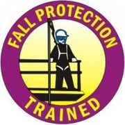 FALL PROTECTION TRAINED HARD HAT STICKER