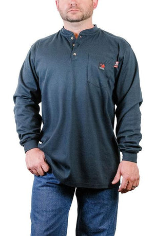 Forge FR Men's 3 Button Henley