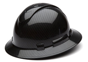 Pyramex Glossy Graphite Full Brim Hard Hat