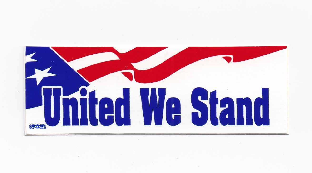 'United We Stand' Hard Hat Sticker #M25