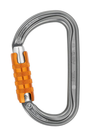 etzl Part #M34A TL  May be used with a CAPTIV positioning bar to favor loading of the carabiner along the major axis, to limit the risk of it flipping and to keep it integrated with the device. Fluid interior design limits the risk of having a catch point and facilitates rotation of the carabiner. Keylock system to avoid any involuntary snagging of the carabiner. Ensures an improved strength-to-weight ratio.