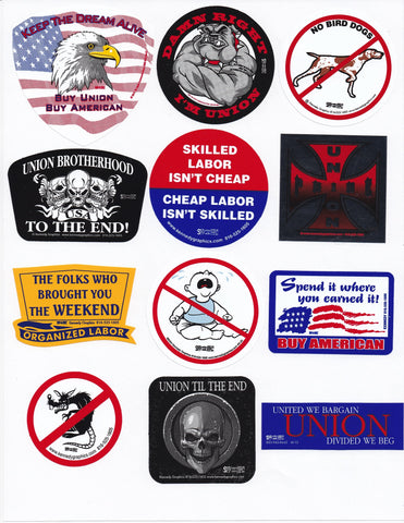 Hard Hat Sticker Mix 6 #SM-M6