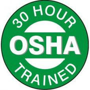 30 Hour OSHA Trained Hard Hat Sticker HM-126
