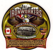Ironworker Prayer Large Truck Window Decal-See Through Decal
