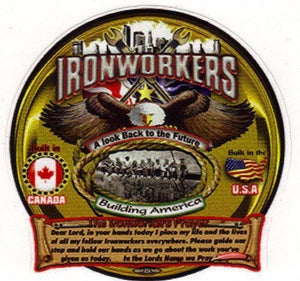 Ironworker Prayer Large Window Decal