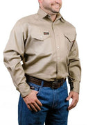 Forge FR Snap Front Khaki Work Shirt