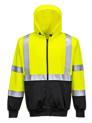 Portwest Hi-Vis Two-Tone Zippered Hoodie UB315