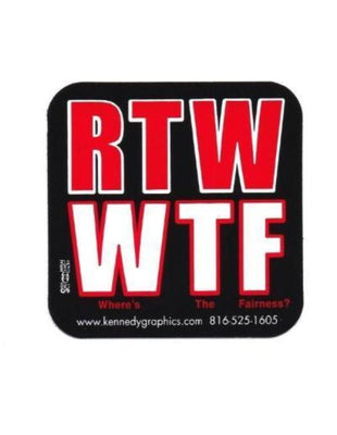 'RTW/WTF' Hard Hat Sticker #S110