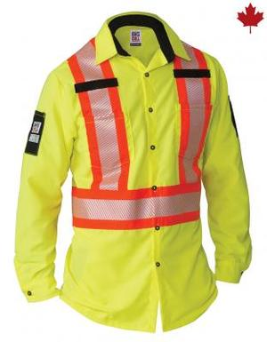 Big Bill Ripstop Hi-Vis Long Sleeve Shirt with X-Back  #144HVP