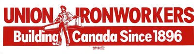 Union Ironworkers Building Canada Bumper Sticker