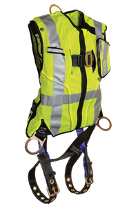 Falltech High-Vis Non-Belted Lime Vest Harness