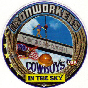 """Cowboys In the Sky"" Premium Hardhat Sticker"