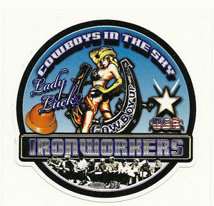 Lady Luck Ironworker Premium Sticker