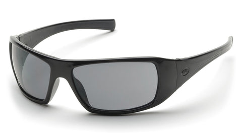 """Goliath"" Gray POLARIZED Safety Glasses with Black Frames"
