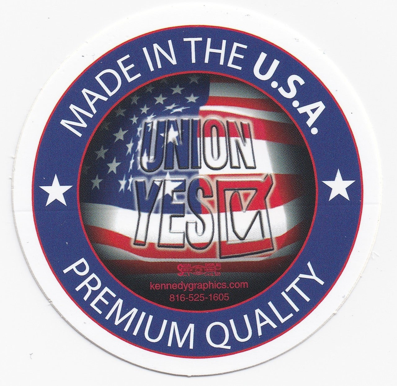Union Yes Made in the USA Hardhat Sticker S-99
