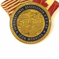 Ironworkers International Logo US and Canada Crossed Flag Lapel Pin