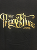 Prison Blue's Metallic Script T-Shirt