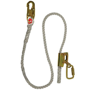 "Elk River Part #:  #34406 - ADJUSTABLE LANYARD /ADJUSTOR/ 5/8"" X6' ROPE WITH ZSNAP AND CARABINER.  5/8"" x 6' Nylon Rope. Connectors: Zsnap hookhook. Carabiner included."