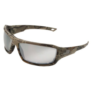 ERB One Nation Live Free Camo Silver Mirror Lens Safety Glasses