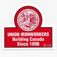 Union Ironworkers Building Canada Hard Hat Sticker