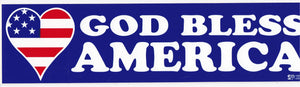 'God Bless America' Bumper Sticker #BP314