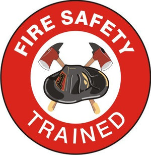 FIRE SAFETY TRAINED HARD HAT MARKER