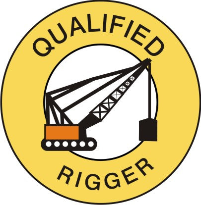 QUALIFIED RIGGER HARD HAT MARKER