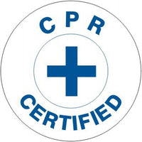 CPR CERTIFIED WITH CROSS & BORER HARD HAT MARKER