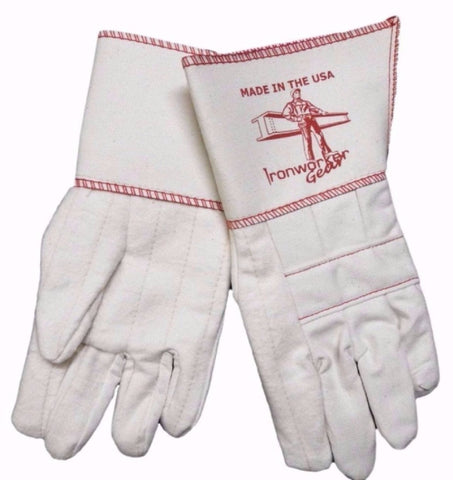 IRONWORKERGEAR 'Iron Ox' Long Cuff Rigging Gloves