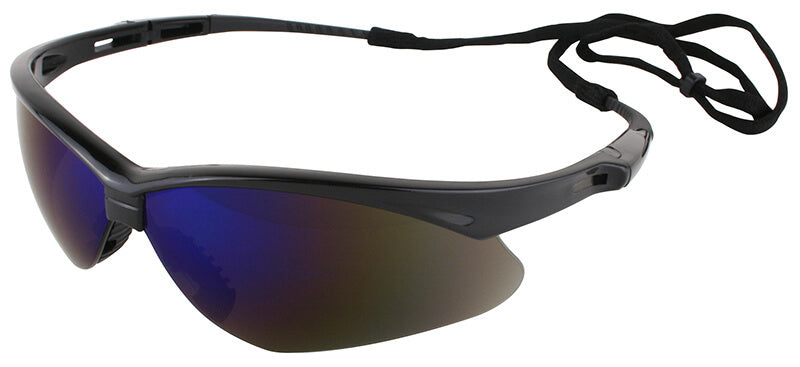 Nemesis Blue Mirror Safety Glasses #14481