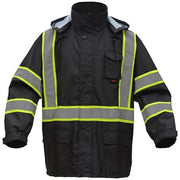 GSS SAFETY CLASS 3 PREMIUM NON-ANSI HOODED RAIN COAT